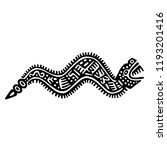 ethnic ink pattern tribal... | Shutterstock .eps vector #1193201416