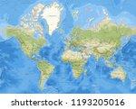 world map  3d rendering  | Shutterstock . vector #1193205016