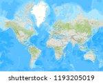 world map  3d rendering  | Shutterstock . vector #1193205019