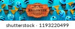 halloween banner party with... | Shutterstock .eps vector #1193220499