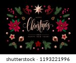 christmas greeting card with... | Shutterstock .eps vector #1193221996