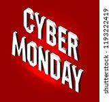 cyber monday web banner. data...   Shutterstock .eps vector #1193222419
