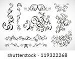 vector calligraphic design... | Shutterstock .eps vector #119322268