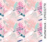 original trendy seamless... | Shutterstock .eps vector #1193222770