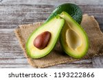Close Up Of An Avocado And...