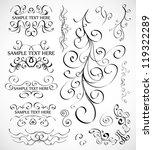 vector set of calligraphic... | Shutterstock .eps vector #119322289