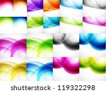wave color backgrounds. big set ... | Shutterstock .eps vector #119322298