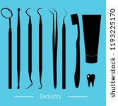 variety of dental implements ... | Shutterstock .eps vector #1193225170