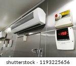 low temperature of front frozen ... | Shutterstock . vector #1193225656