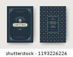 christmas greeting card design... | Shutterstock .eps vector #1193226226