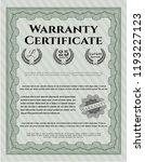 green retro warranty template.... | Shutterstock .eps vector #1193227123