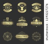 christmas labels and badges... | Shutterstock .eps vector #1193227276