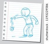 boy playing with yo yo   Shutterstock .eps vector #1193229586