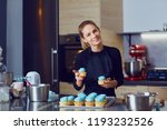 confectioner pastry woman... | Shutterstock . vector #1193232526