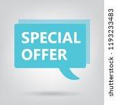 special offer written on speech ...   Shutterstock .eps vector #1193233483