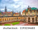 zwinger palace in historical... | Shutterstock . vector #1193234683