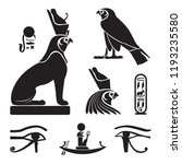 set of ancient egypt... | Shutterstock .eps vector #1193235580