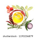 composition with oil  spices... | Shutterstock . vector #1193236879