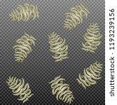 fern frond herbs  tropical... | Shutterstock .eps vector #1193239156