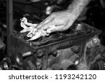 car engine intake side receiver ... | Shutterstock . vector #1193242120