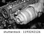 car engine intake side receiver ... | Shutterstock . vector #1193242126