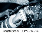 car engine intake side receiver ... | Shutterstock . vector #1193242213