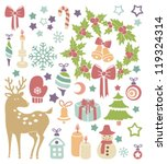 vector card with christmas icons | Shutterstock .eps vector #119324314