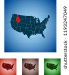 map of idaho | Shutterstock .eps vector #1193247049