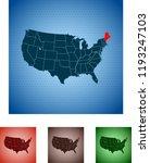 map of maine | Shutterstock .eps vector #1193247103
