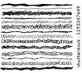 set of line ink strokes ... | Shutterstock .eps vector #1193247649