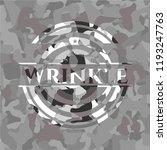 wrinkle on grey camouflage... | Shutterstock .eps vector #1193247763