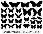 Butterfly  Black Silhouette  Set