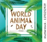 world animal day | Shutterstock .eps vector #1193252929