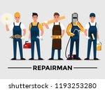 repairman set people teamwork ... | Shutterstock .eps vector #1193253280