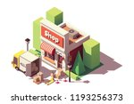 vector isometric icon... | Shutterstock .eps vector #1193256373