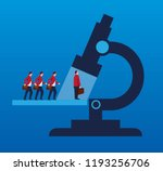 business people standing in... | Shutterstock .eps vector #1193256706