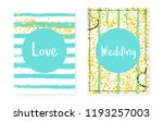 bridal shower set with dots and ... | Shutterstock .eps vector #1193257003