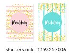 bridal shower card with dots... | Shutterstock .eps vector #1193257006
