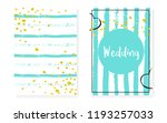 bridal shower set with dots and ... | Shutterstock .eps vector #1193257033