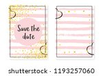 bridal shower set with dots and ... | Shutterstock .eps vector #1193257060