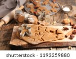raw dough forms for christmas... | Shutterstock . vector #1193259880