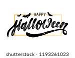 happy halloween lettering...   Shutterstock . vector #1193261023