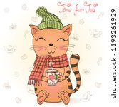hand drawn beautiful cute... | Shutterstock .eps vector #1193261929