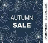 illustration of autumn sale... | Shutterstock . vector #1193263336