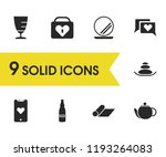 activity icons set with hot... | Shutterstock .eps vector #1193264083