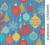 seamless pattern with christmas ... | Shutterstock .eps vector #119326450