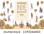 indie festival poster with... | Shutterstock .eps vector #1193266003