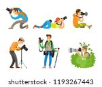 photographers or paparazzi... | Shutterstock .eps vector #1193267443