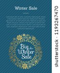 big winter sale poster with...   Shutterstock .eps vector #1193267470