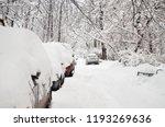 Heavy Snowfall. On The Road ...